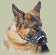 Royal Nappa Leather Dog Muzzle for German Shepherd