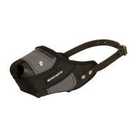 Leather Dog Muzzle Combined | Muzzle Made of Leather with Nylon