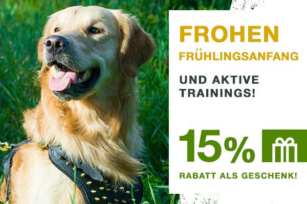 15 % Rabatt auf Hundesport Zubehör