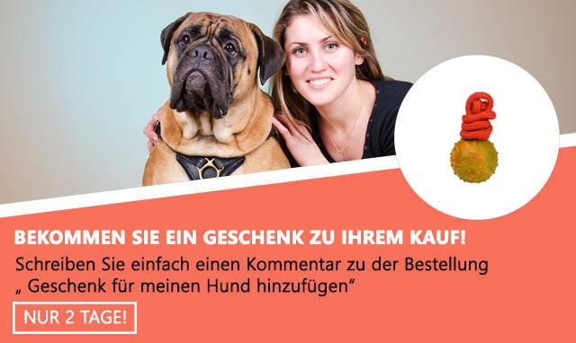 Robuster Hundeball mit Schnur