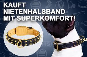 Leder Hundehalsband, handverziert