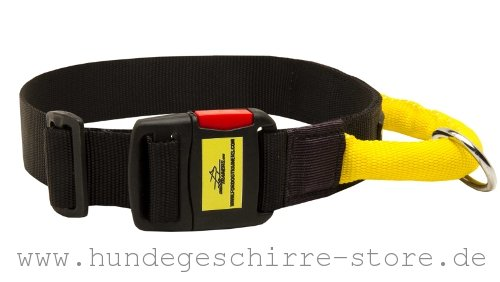 Profi Hundehalsband Nylon mit Steckverschluss aus Kunststoff mit Nylon-Griff