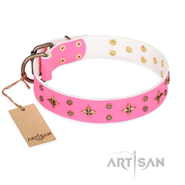 Halsband aus rosa Leder kaufen