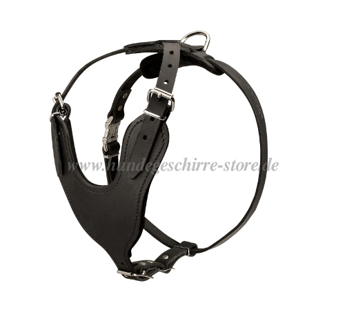 leather dog harness for k9 dogs, padded dog harness for working dogs