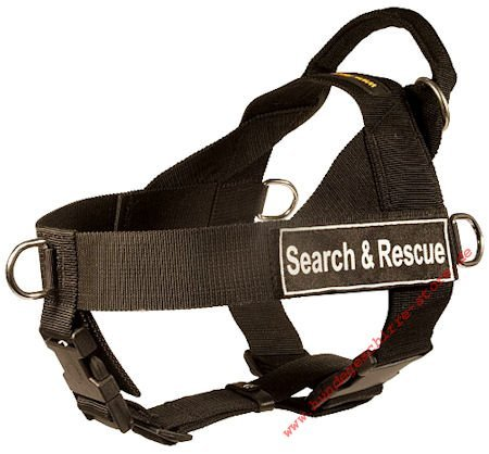 dog harness for search and rescue