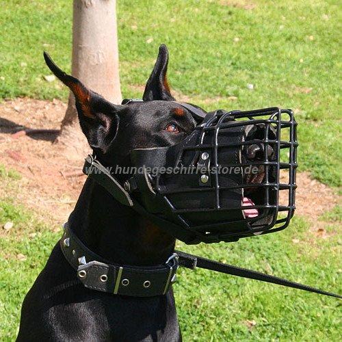 Dobermann Hundemaulkorb verstellbar