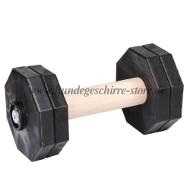 Holz Hantel mit Kunststoff Gewichtplatten für Apportieren