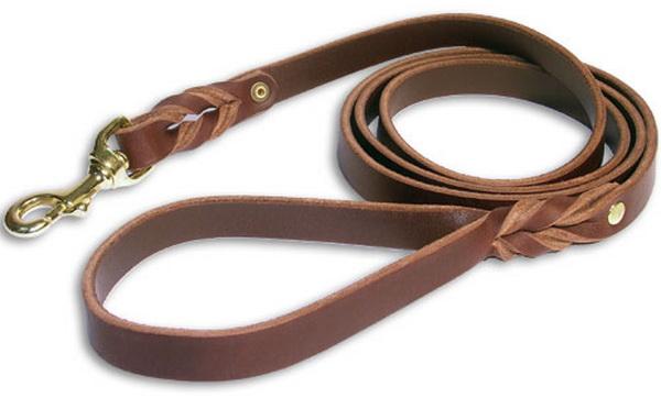 Handgefertigte Leder Hundeleine, 2 cm