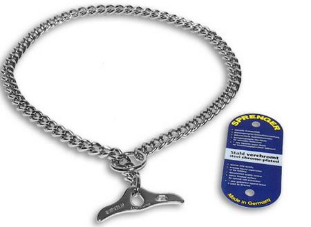 Halskette mit glachen Glieder aus Stahl